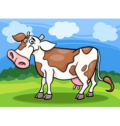 cow farm animal cartoon vector image vector image