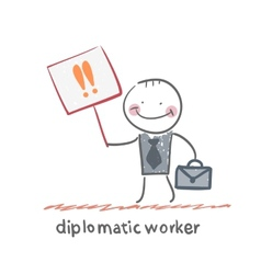 diplomatic worker vector image