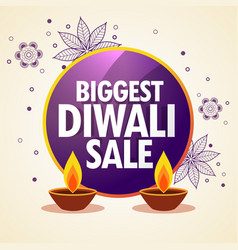 diwali sale promotional banner with flower vector image