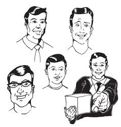Figures Men vector image vector image
