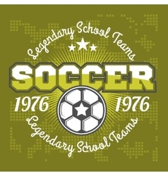 Football badge logo template designsoccer team vector