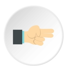Gesture index and middle finger together icon vector