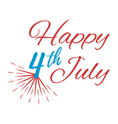 Happy 4 th july greeting card vector