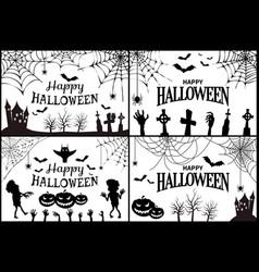 happy halloween with icons vector image
