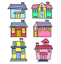 House set hand draw vector