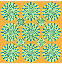 Hypnotic show of rotation vector image