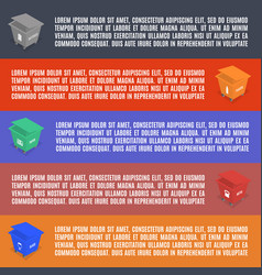 Info graphics elements of garbage in isometric vector