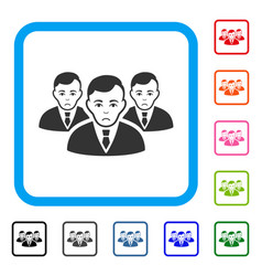 Manager group framed sad icon vector