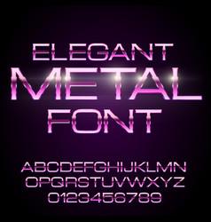 metal elegant font vector image vector image
