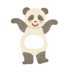 panda bear cute toy animal with detailed elements vector image