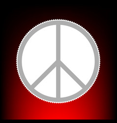 Peace sign postage stamp or old vector