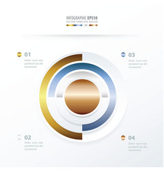 Pie chart infographics gold color style vector