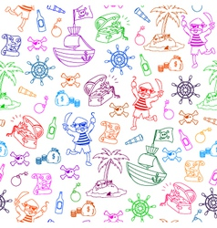 pirates pattern vector image vector image