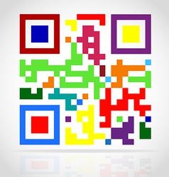 qr code 03 vector image vector image