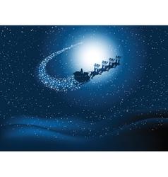 Santa flying vector