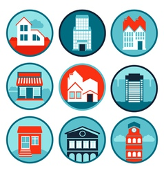 set with real estate logos and emblems vector image vector image