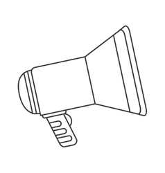 single megaphone icon vector image