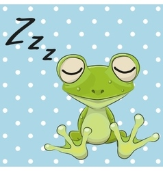 Sleeping Frog vector image