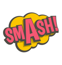 smash comic text sound effect icon isolated vector image