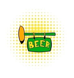 Street signboard of pub icon comics style vector