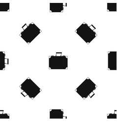 travel bag pattern seamless black vector image vector image