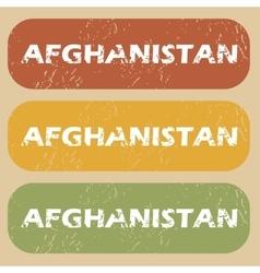 Vintage afghanistan stamp set vector