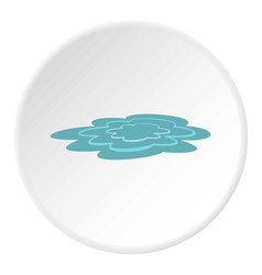 Water puddle icon circle vector