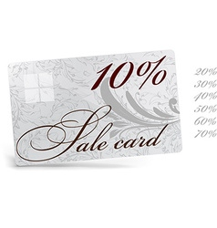 10 sale card template vector