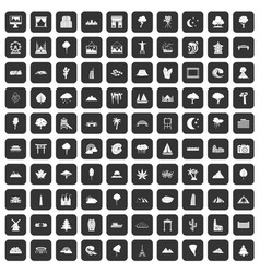 100 view icons set black vector