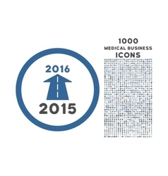 2016 future road rounded icon with 1000 bonus vector