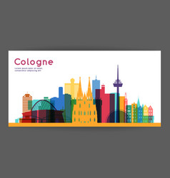 Cologne colorful architecture vector