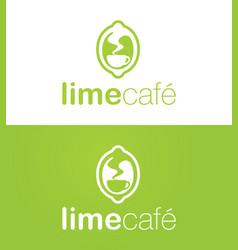 Lime cafe logo vector