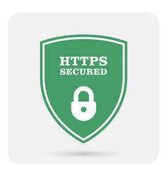 Https secure website - ssl certificate shield vector