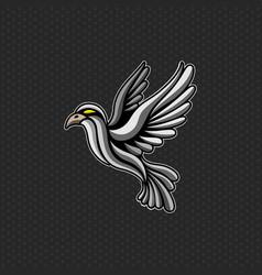 bird logo design template bird head icon vector image