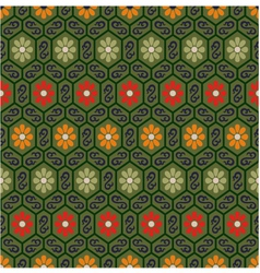 seamless chinese traditional floral pattern vector image