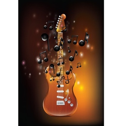 Guitar with melody vector