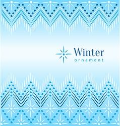 Vintage winter ethnic ornamental vector