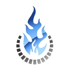 Blue colored gas flame vector