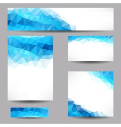 Backgrounds with abstract triangles vector