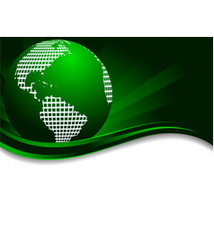 green background with earth vector