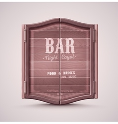 Bar doors vector