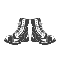 Military jump boots vector