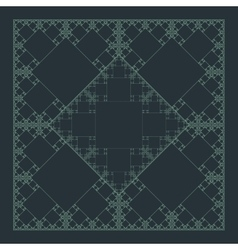 Square geometry fractal structure background vector