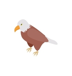 Eagle icon isometric 3d style vector image