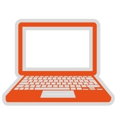 Laptop computer isolated icon design vector