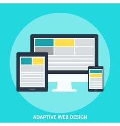 Adaptive web design vector