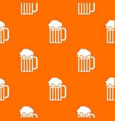 Beer mug pattern seamless vector