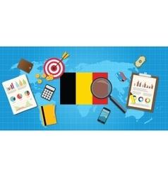 Belgium economy economic condition country with vector