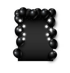 black friday background design of balloon and vector image vector image