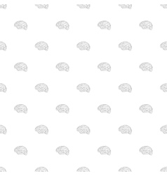 Brain icon seamless pattern vector